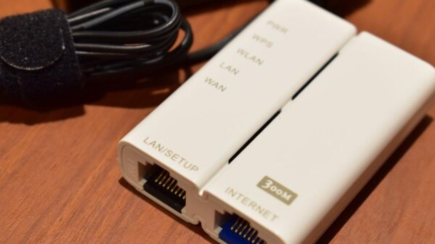 ■WIFIルーター■無線のWIFIが弱い際ご利用下さいませ。
