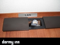 ♦客室内有線LAN