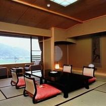 【風雅亭 スタンダード客室】全室が狩野川沿いに面する「純和室」のこだわりを体現したお部屋です。