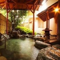 【露天風呂】古奈温泉は「美肌の湯」とも言われ泉質は柔らかく無味無臭で特に女性に人気です!