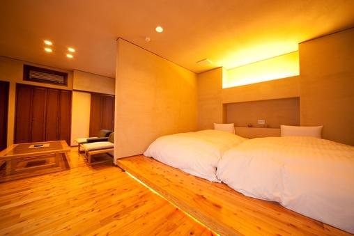 露天・内湯付き離れ和洋室 ツインベッド