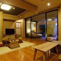 【プレミアムスイート長閑(のどか)】ウッドテラスが付いたリゾート感溢れるお部屋(禁煙)