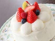 手造りバースデーケーキ。記念日にどうぞ