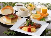 手造り朝食一例。