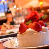 手造りのケーキは甘さ控えめで男性にも大好評♪