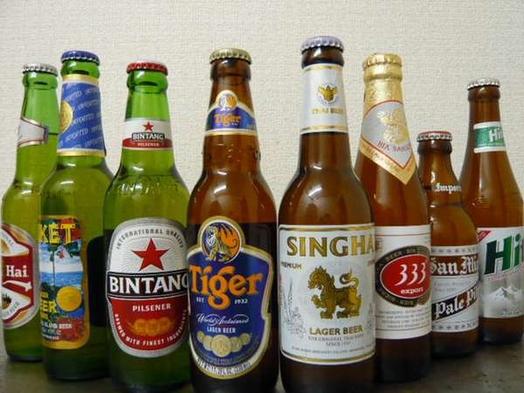 【わたしビール党!】夏季限定★創作アジアン料理との相性抜群!選べるアジア各国のビール★