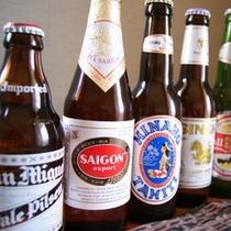 アジア各国のビールを飲み比べてはいかが?
