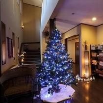 【館内・ロビー】クリスマスにはツリーも飾ります♪