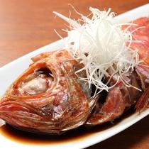 【別注料理】金目鯛の煮つけ/味が染みわたった金目鯛。