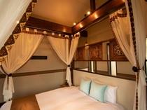 プレミアムダブル【海】シックなメゾネット★海望む2階露天風呂/優しいライティングでのんびり過ごせます