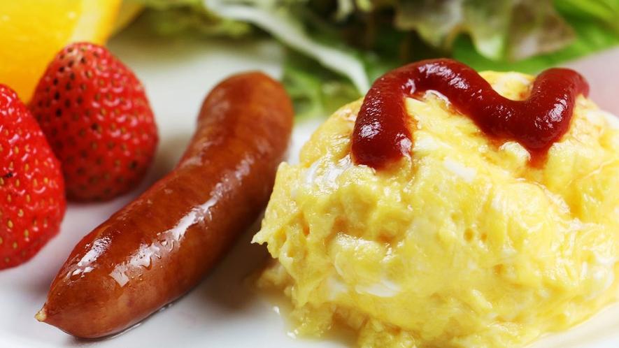 ■定番のスクランブルエッグは、ふんわりしていてカラダに優しいお味