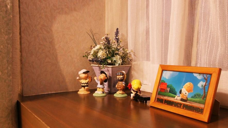 ■スヌーピーの雑貨がお部屋を可愛く演出しています