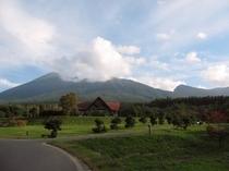 県民の森から岩手山を望む