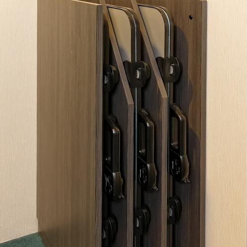 ズボンプレッサーは各エレベーターホールに完備