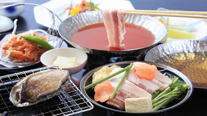 【10月より】人気No1!金目鯛の熱海煮!鮑踊り焼&選べるコラーゲンゼリー入り2色鍋<スタンダード>