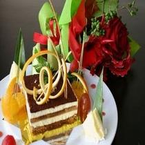 ケーキ&花束付きのプラン
