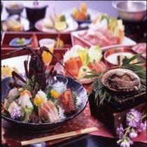 貴賓室でしか食べる事の出来ない「花ざかり」の膳