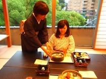 当旅館が振る舞う料理は四季折々で旬な味覚を十分にご堪能していただける内容になっております。