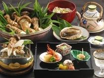 【料理・季節メニュー】(9〜10月限定松茸プラン一例)