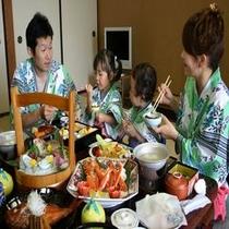 家族でも大満足のお食事