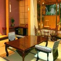 暖かい空間を創り出す露天付き客室は2室ございます。