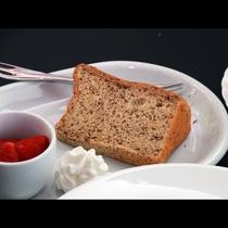 【デザート】自家製のシフォンケーキを食後にどうぞ☆