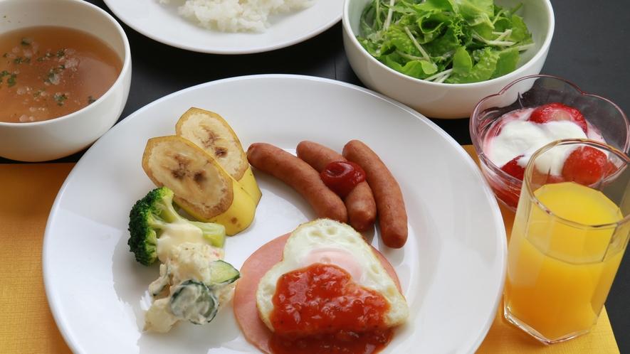 【朝食】ワンプレートでかわいい朝食