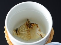 【一品料理】 温泉とらふぐのヒレ酒