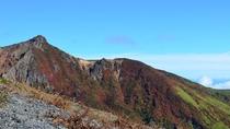 【紅葉】 朝日岳の紅葉(那須ロープウェイ山頂駅付近より)