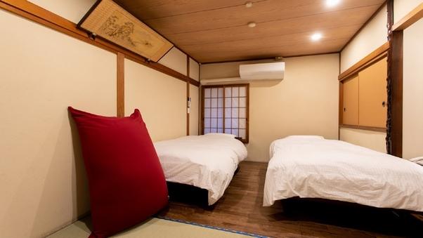 【和洋室2F・洋式トイレ付】ツインベッド、仕事部屋付き!