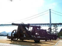みもすそ川公園の長州砲