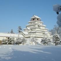 雪化粧の鶴ヶ城