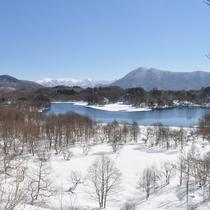 冬の秋元湖では桧原湖に負けないくらいワカサギ釣りのお客様が沢山です