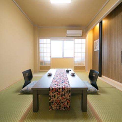 おひとり様でもお寛ぎ頂けるシンプルな和室