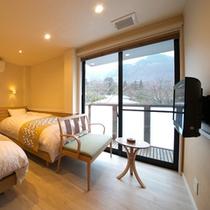 柔らかな色調で整えられたお部屋