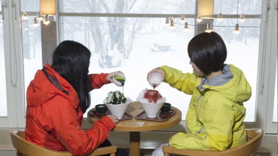ラウンジの日光天然氷のかき氷(通年)
