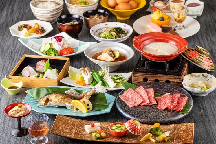 夕食:日替り季節のプレミアム会席 誉(ホマレ)