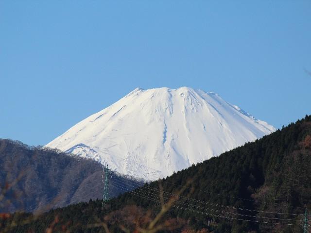 敷地から見える富士山