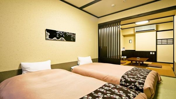 〈禁煙〉「和洋室」シングルベッド2台+くつろぎ空間