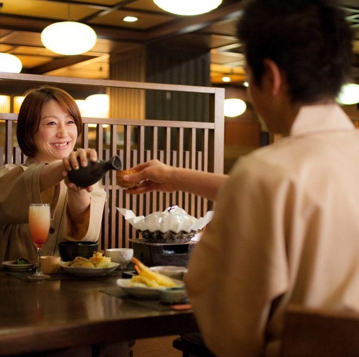 【夕食】カップルで仲良くディナータイム