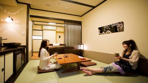 〈禁煙〉「和洋室」ダブルサイズベッド+くつろぎ空間◆