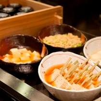 【ビュッフェ】豆腐料理コーナー