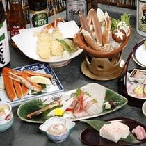 【蟹会席一例】厳しい冬の日本海でとれる新鮮な海の幸と一緒にズワイガニをご堪能下さい!