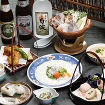 【ふぐ会席一例】蟹と並ぶ冬の味覚★てっさにてっちり…存分にご堪能下さい。