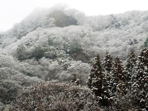 雪の生瀬富士