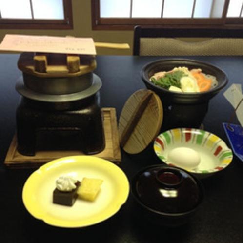 季節のお鍋・キノコの釜飯・季節のデザート