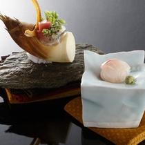 【夕食一例】地元鳴門の新鮮なお魚や厳選された季節ごとの食材を贅沢にあしらいました。