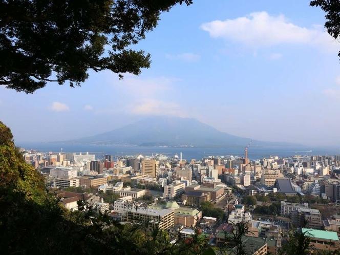 城山からの桜島