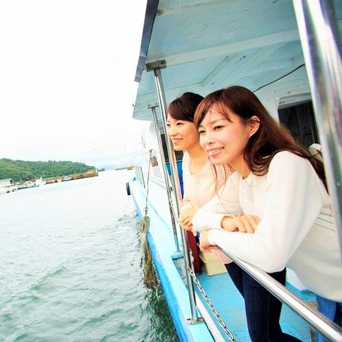 沖島に向けて出発