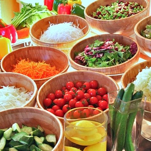 みずみずしい新鮮なサラダはミニトマトが一番人気♪
